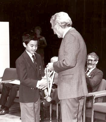 Terrance Tao receiving his first IMO Gold medal (1988)